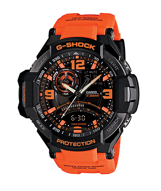 G-Shock GA-1000-4A Black & Orange Chronograph Watch