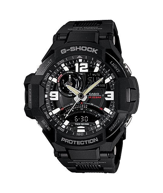 G-Shock GA-1000FC-1A G-Aviation Fine Comp Black Watch