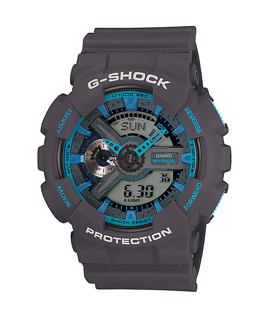 G-Shock GA-110TS Grey & Blue Watch