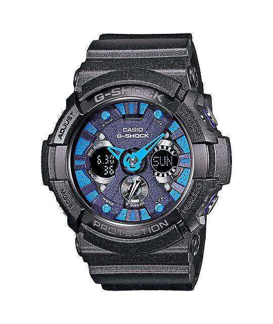 G-Shock GA-200SH-2A X-Large Black & Blue Watch