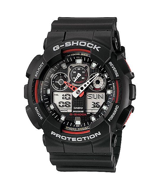 G-Shock GA100-1A4CR Black & Red Watch