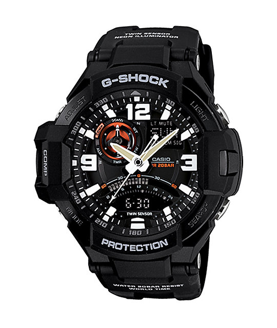 G-Shock GA1000-1A G-Aviation Twin Sensor Black Watch