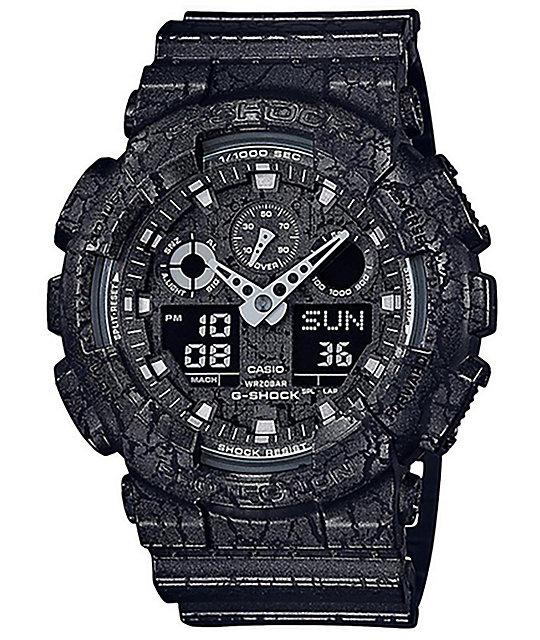 G-Shock GA100CG-1A Cracked Ground Black Watch
