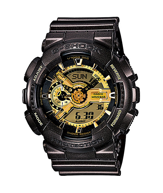 G-Shock GA110BR-5A Garish Black & Gold Watch