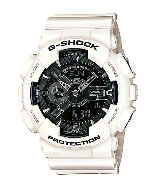 G-Shock GA110GW-7A Garish White & Black Watch