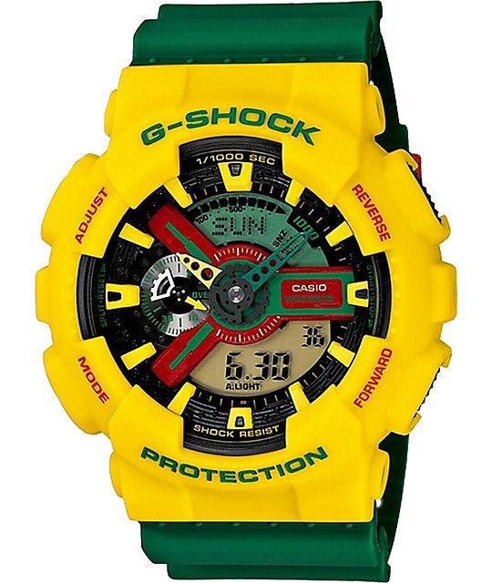 G-Shock GA110RF-9A Digital & Analog Rasta Watch