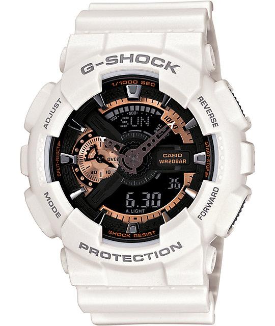 G-Shock GA110RG-7A White & Rose Gold Watch