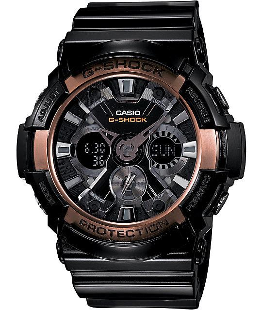 G-Shock GA200RG-1A X-Large Black & Rose Gold Watch