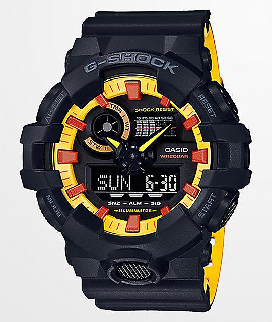 G-Shock GA700 Black & Yellow Watch