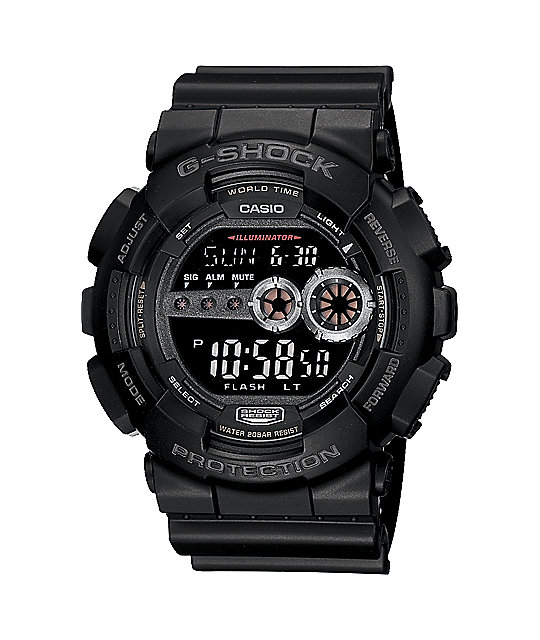 G-Shock GD100-1B Big Black Digital Watch