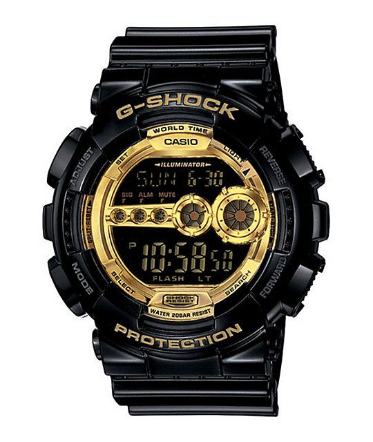 g shock gd100gb 1 black gold digital at zumiez pdp