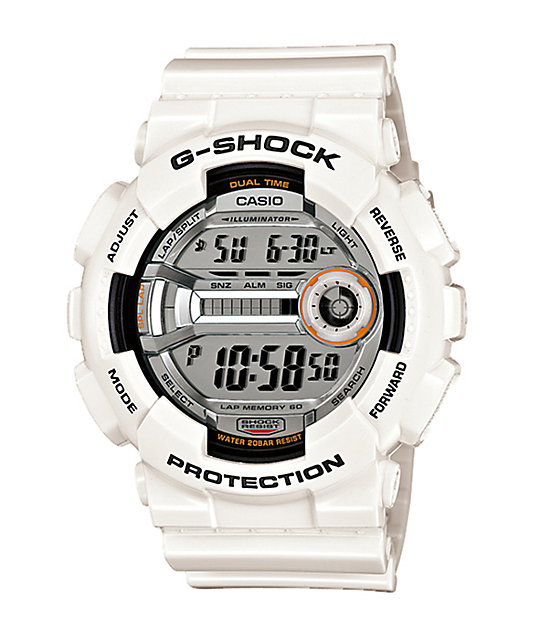 G-Shock GD110-7 Lap Memory 60 White Watch