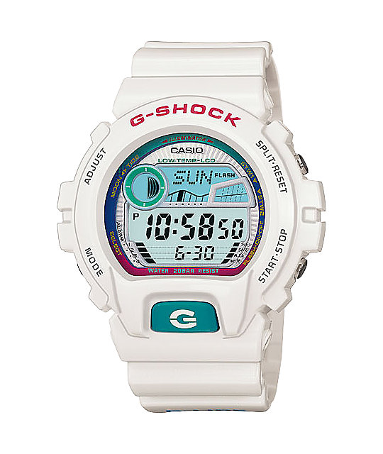 G-Shock GLX6900-7 G-Lide White & Purple Digital Watch