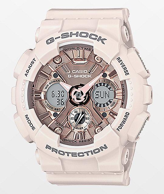 G-Shock GMAS120MF-7A2P Light Pink & Gold Watch