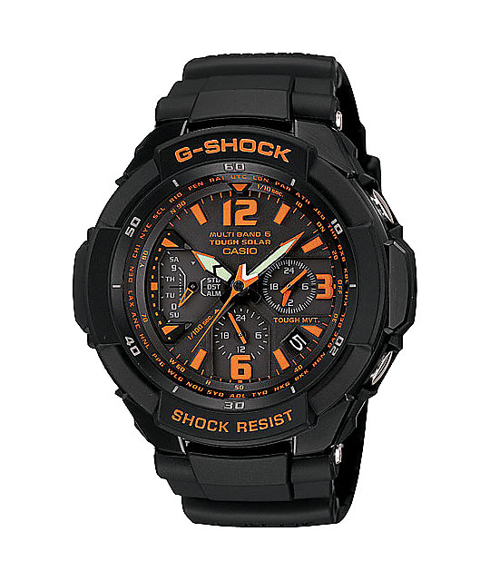 G-Shock GW3000B-1A G-Aviation Grey & Orange Chronograph Watch