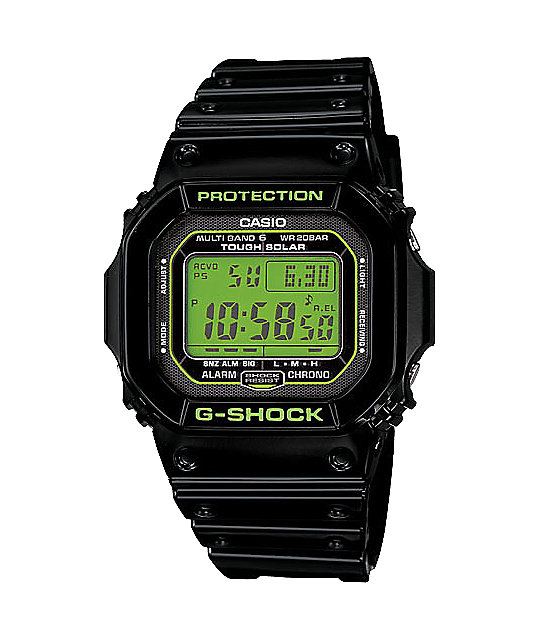 G-Shock GWM5610B-1 Black & Lime Digital Watch