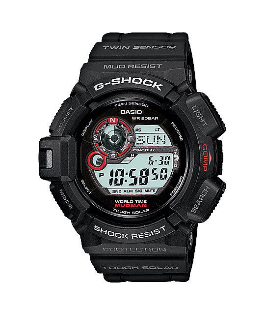 G-Shock Mudman Black Tough Solar G9300-1 Mens Digital Watch