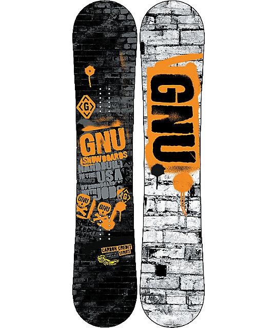 GNU Carbon Credit BTX 162cm Wide Snowboard