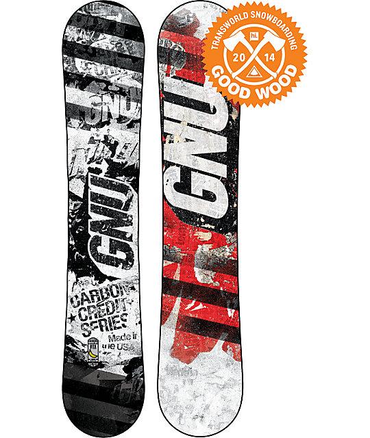 GNU Carbon Credit Series BTX 153cm Snowboard