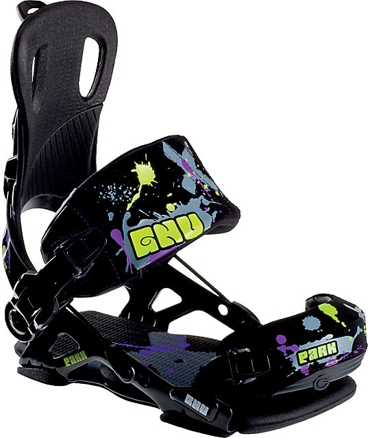 GNU Park Black Mens Snowboard Bindings
