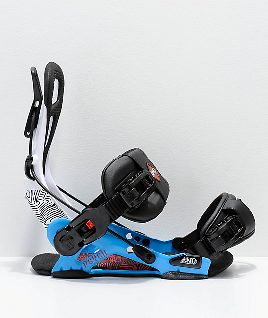 GNU Psych Blue Snowboard Bindings