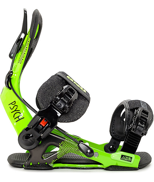 GNU Psych Green Snowboard Bindings