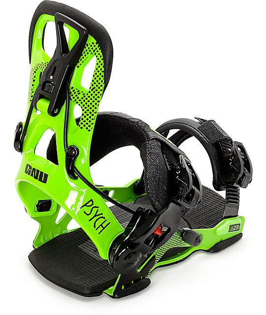 GNU Psych Green Snowboard Bindings