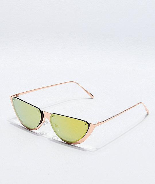De Sol Medio Rosa Gafas Círculo Oro QrCeWdBox