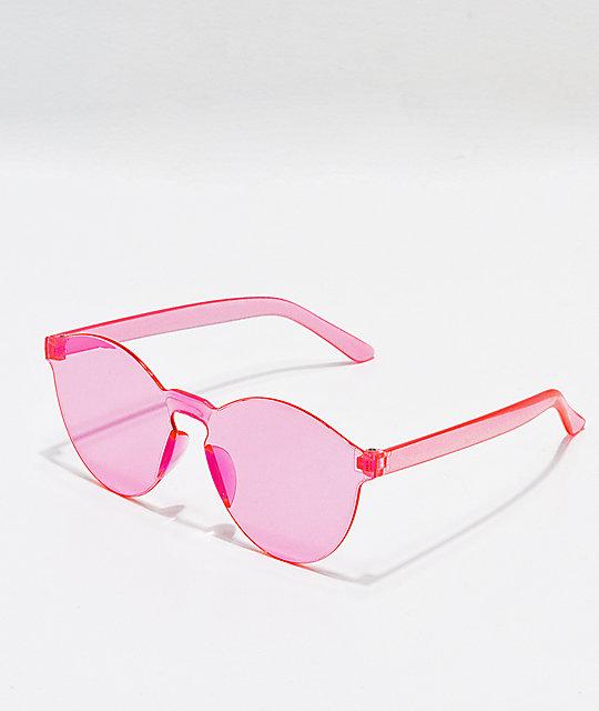 En Transparente De Rosa Sol Sobredimensionadas Gafas hrCQdtsx