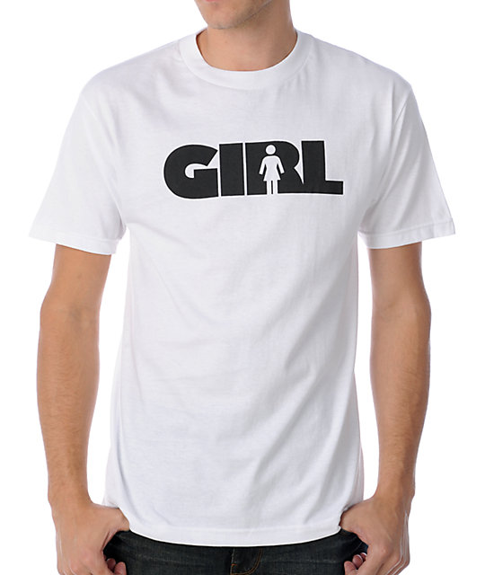 Girl Advertype White T-Shirt