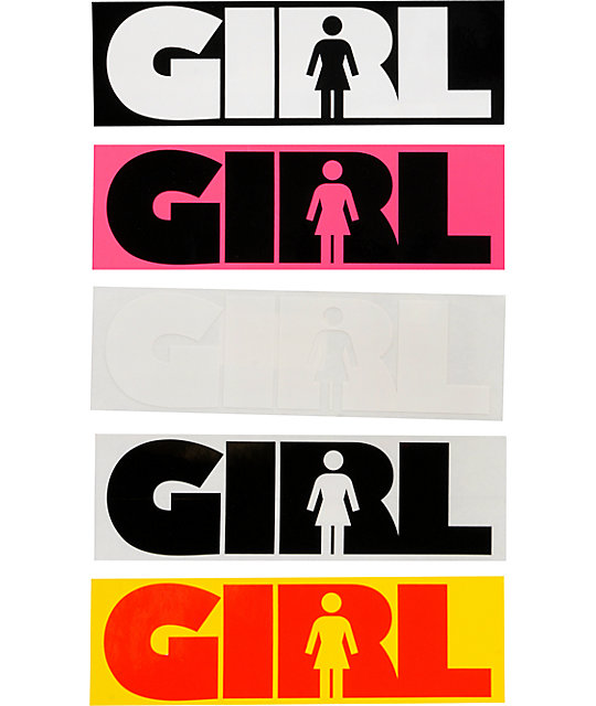 Girl As Advertype 7.5 Sticker