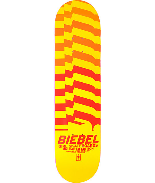 "Girl Brandon Biebel Unlimited 7.87""  Skateboard Deck"