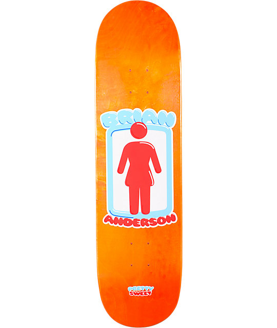"Girl Brian Anderson Pretty Sweet 8.5""  Skateboard Deck"