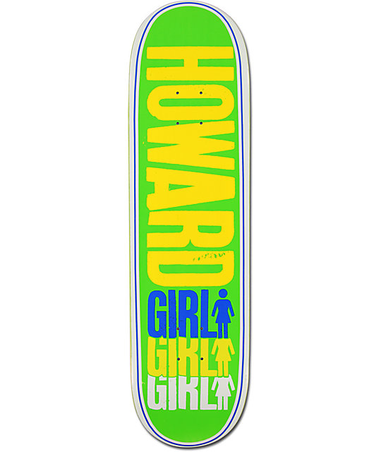 "Girl Howard Triple 8.5""  Skateboard Deck"