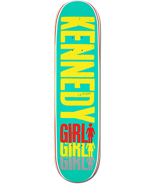 "Girl Kennedy Triple 7.75""  Skateboard Deck"