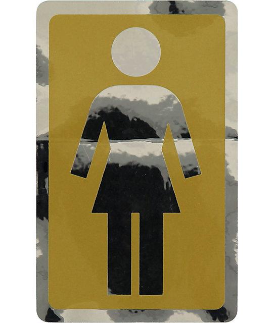 "Girl Large 6""  Sticker"