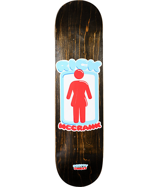 "Girl Rick McCrank Pretty Sweet 8.25""  Skateboard Deck"