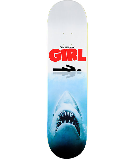 "Girl Shark Attack Mariano 8.0""  Skateboard Deck"