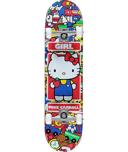 Girl X Hello Kitty Carroll 7 87 Quot Complete Skateboard
