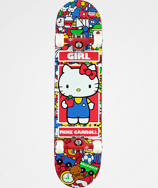 "Girl x Hello Kitty Carroll 7.87"" Skateboard Complete"