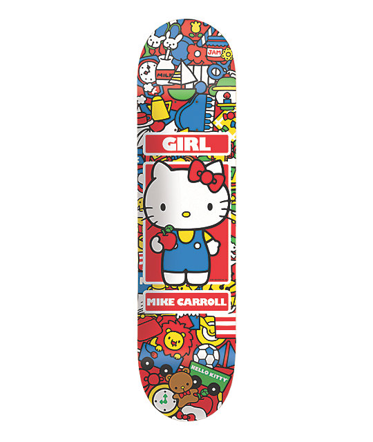 girl x hello kitty hella kitty carroll 8 0 skateboard. Black Bedroom Furniture Sets. Home Design Ideas