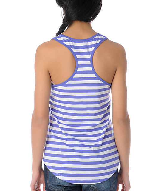 Glamour Kills Ahoy Purple Striped Tank Top