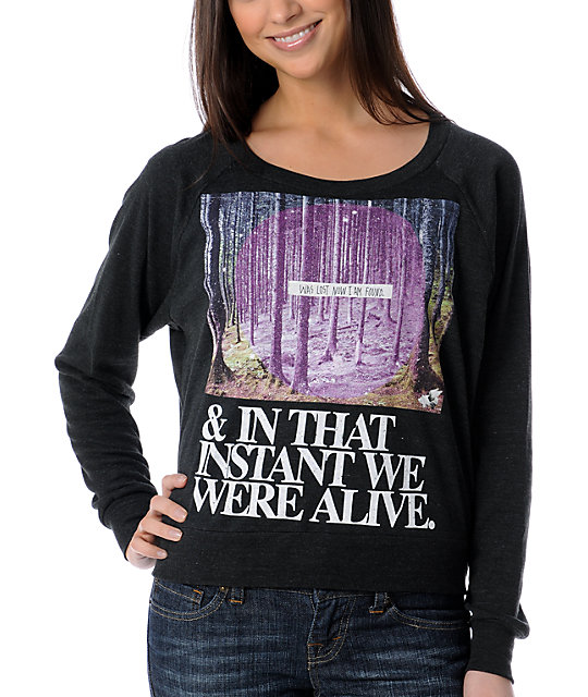 Glamour Kills Alive and Well Charcoal Top