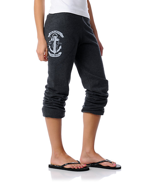 Glamour Kills Anchors Away Charcoal Sweatpants