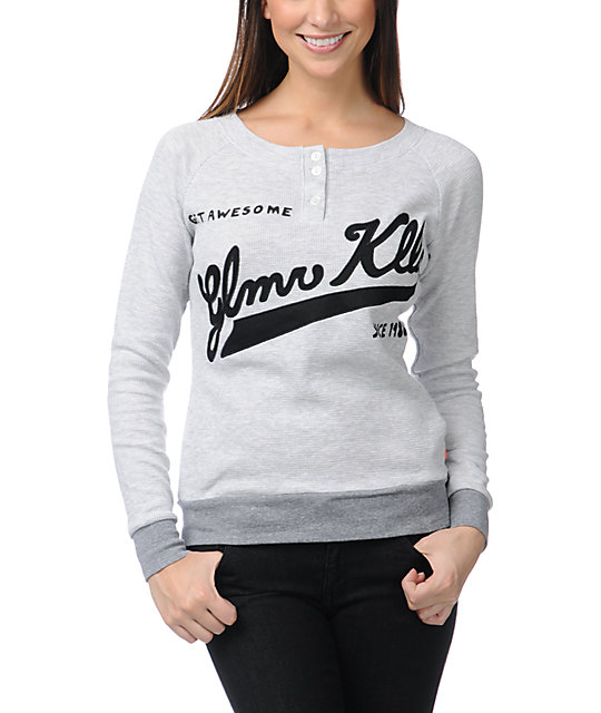 Glamour Kills Awesomely Awesome Grey Thermal Shirt