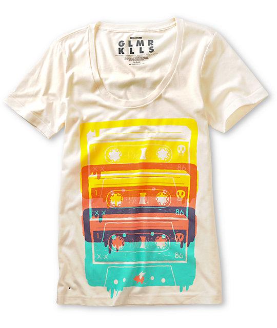 Glamour Kills Boombox Generation Natural White T-Shirt