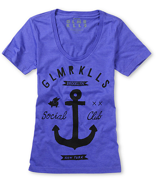 Glamour Kills Brooklyn Anchor Club Purple T-Shirt