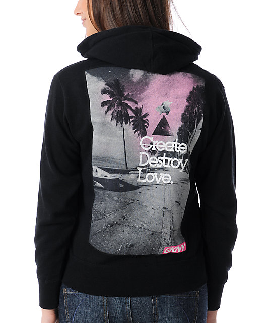 Glamour Kills Create Destroy Love Black Hoodie