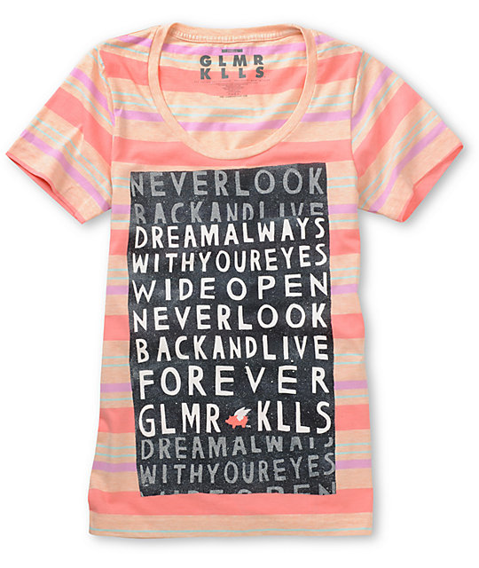 Glamour Kills Dream Always Pink Striped T-Shirt
