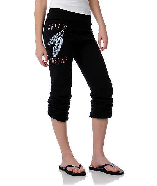 Glamour Kills Dream Feathers Black Sweatpants